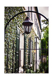 Antique Lamp On A Fence Photographic Print by George Oze