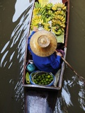 Damnoen Saduak Floating Market with Vendor Photographic Print by Terry Eggers