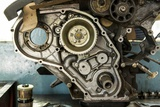 Land Rover Engine in Garage, Zambia Photographic Print by Paul Souders