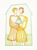 Women Couple with Baby Photographic Print by Marie Bertrand