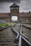 Railroad Tracks Leading into KL Auschwitz II Fotografie-Druck von Jon Hicks