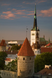 Spire of St. Olaf's Church in Tallinn Photographic Print by Jon Hicks
