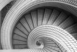 Spiral Staircase, Hong Kong, China Photographic Print by Paul Souders