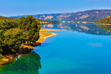 Lake Sainte-Croix-Du-Verdon Reflects Wooded Shore Photographic Print by Kushnirov Avraham