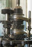 Land Rover Transmission Parts in Garage, Zambia Photographic Print by Paul Souders