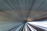 Blurred View of Subway Tunnel, Kuala Lumpur, Malaysia Photographic Print by Paul Souders