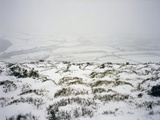 Snow on Shropshire Hills Photographic Print by Robert Brook