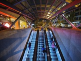 Escalators at the Entrance to a Washington DC Metro Station. Photographic Print by Jon Hicks