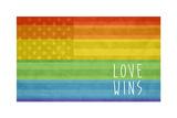 Making History - Love Wins Plastic Sign