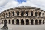 Nimes,Anfiteatro Romano Y Plaza De Toros. Photographic Print by  Argonautis