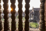Sunset behind Columns at Angkor Wat, Cambodia Photographic Print by Paul Souders