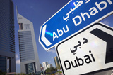 Direction Signs on Sheikh Zayed Road in Dubai Photographic Print by Jon Hicks