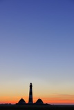 Westerhever Lighthouse, North Sea, Schleswig-Holstein, Westerheversand, Wadden Sea Photographic Print by Herbert Kehrer