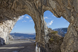 Natural Rock Arches in Provence Mountain Road Photographic Print by Andrea Izzotti