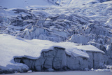 Shoup Glacier Covered in Fresh Snow Photographic Print by  DLILLC