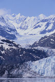 Margerie Glacier Emerging from Mountain Range Photographic Print by  DLILLC