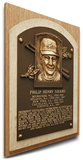 Phil Niekro Baseball Hall of Fame Plaque on Canvas - Atlanta Braves Stretched Canvas Print