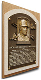 Dick Williams Baseball Hall of Fame Plaque on Canvas (Small) - Oakland A's Stretched Canvas Print
