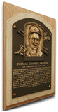 Tom Lasorda Baseball Hall of Fame Plaque on Canvas (Small) - Los Angeles Dodgers Stretched Canvas Print