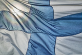 Close-Up of Finnish Flag Photographic Print by Jon Hicks