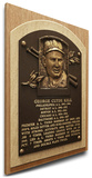 George Kell Baseball Hall of Fame Plaque on Canvas (Small) - Detroit Tigers Stretched Canvas Print