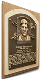 Hal Newhouser Baseball Hall of Fame Plaque on Canvas (Small) - Detroit Tigers Stretched Canvas Print