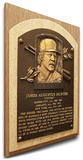 Catfish Hunter Baseball Hall of Fame Plaque on Canvas (Small) - Athletics, Yankees Stretched Canvas Print