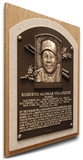 Roberto Alomar Baseball Hall of Fame Plaque on Canvas (Small) - Toronto Blue Jays Stretched Canvas Print
