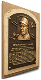 Duke Snider Baseball Hall of Fame Plaque on Canvas (Small) - Brooklyn Dodgers Stretched Canvas Print