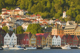 Houses in Bryggen and Vagen Harbor Photographic Print by Jon Hicks