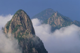 Mountains Rising from Fog Photographic Print by  DLILLC