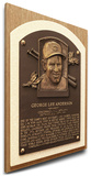 Sparky Anderson Baseball Hall of Fame Plaque on Canvas (Small) - Cincinnati Reds Stretched Canvas Print