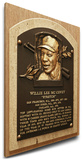 Willie McCovey Baseball Hall of Fame Plaque on Canvas (Small) - San Francisco Giants Stretched Canvas Print