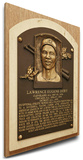Larry Doby Baseball Hall of Fame Plaque on Canvas (Small) - Cleveland Indians Stretched Canvas Print