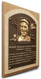 Bob Feller Baseball Hall of Fame Plaque on Canvas (Small) - Cleveland Indians Stretched Canvas Print