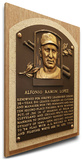 Al Lopez Baseball Hall of Fame Plaque on Canvas (Small) - Cleveland Indians Stretched Canvas Print
