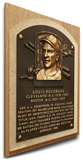 Lou Boudreau Baseball Hall of Fame Plaque on Canvas (Small) - Cleveland Indians Stretched Canvas Print