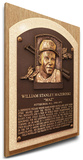 Bill Mazeroski Baseball Hall of Fame Plaque on Canvas (Small) - Pittsburgh Pirates Stretched Canvas Print