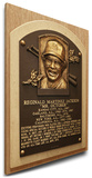 Reggie Jackson Baseball Hall of Fame Plaque on Canvas (Small) - New York Yankees Stretched Canvas Print