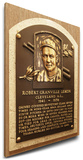 Bob Lemon Baseball Hall of Fame Plaque on Canvas (Small) - Cleveland Indians Stretched Canvas Print