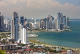 View of Panama City from Cerro Ancon. Photographic Print by Jon Hicks