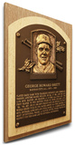 George Brett Baseball Hall of Fame Plaque on Canvas (Small) - Kansas City Royals Stretched Canvas Print