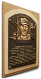 Hoyt Wilhelm Baseball Hall of Fame Plaque on Canvas (Small) - New York Giants Stretched Canvas Print