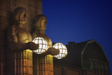 Light-Holding Statues at Helsinki Central Station Photographic Print by Jon Hicks