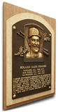 Rollie Fingers Baseball Hall of Fame Plaque on Canvas (Small) - Oakland A's Stretched Canvas Print