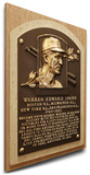 Warren Spahn Baseball Hall of Fame Plaque on Canvas (Small) - Milwaukee Braves Stretched Canvas Print