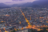 View of Grenoble at Dusk Photographic Print by Jon Hicks
