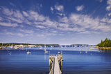 Pier near Southwest Harbor Photographic Print by Jon Hicks