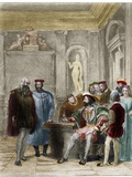 Leonardo Da Vinci at the Court of the King of France Francis I Photographic Print by Stefano Bianchetti