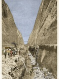 Construction of the Corinth Canal 1893 Photographic Print by Stefano Bianchetti